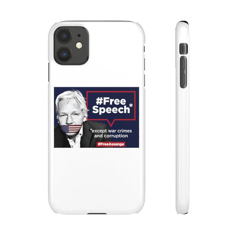 Free Speech - Except War Crimes and Corruption  - Phone Case