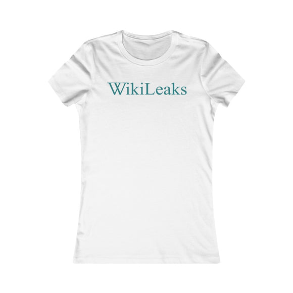 WikiLeaks Text Logo - Women's Slim Tee