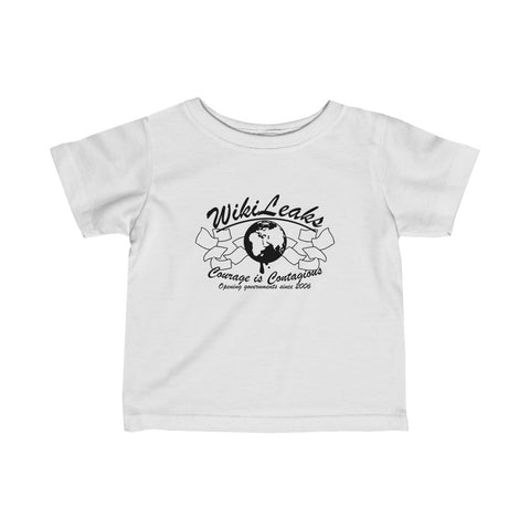 WikiLeaks - Opening Governments Since 2006 - Infant Fine Jersey Tee