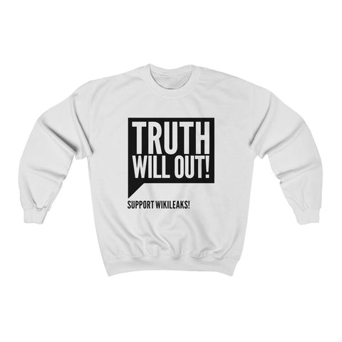 Truth Will Out - WikiLeaks - Unisex Crewneck Sweatshirt