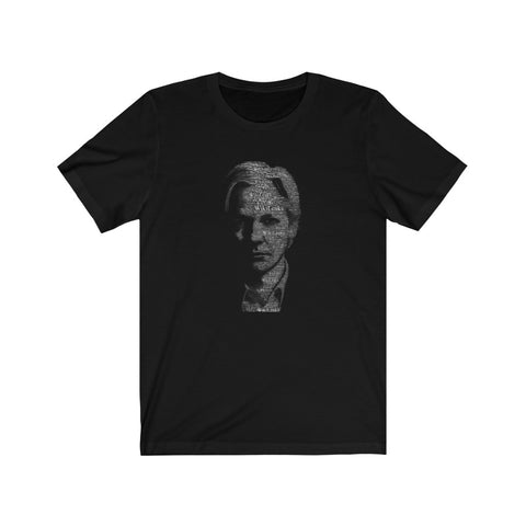 Typographical Assange - Premium Fitted Tee