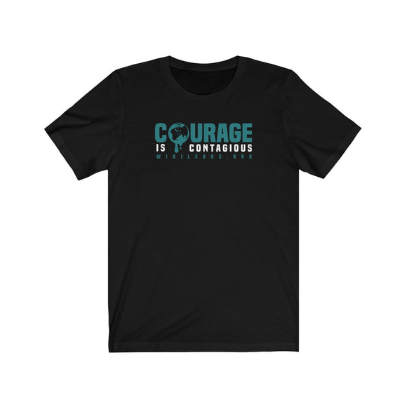 Courage is Contagious - WikiLeaks.org - Premium Fitted Tee