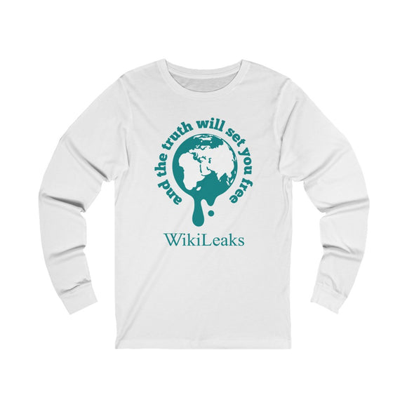 WikiLeaks Supporters - And the Truth will set you Free - Unisex Long Sleeve Tee