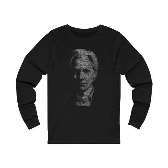 Typographical Assange - Unisex Long Sleeve Tee