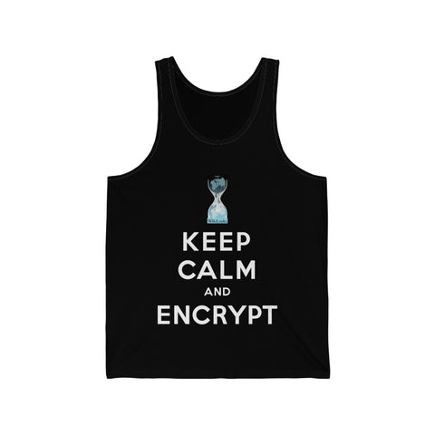 WikiLeaks - Keep Calm and Encrypt - Unisex Jersey Tank