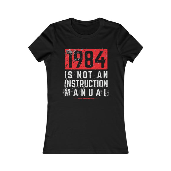 WikiLeaks - 1984 is Not an Instruction Manual - Women's Slim Tee