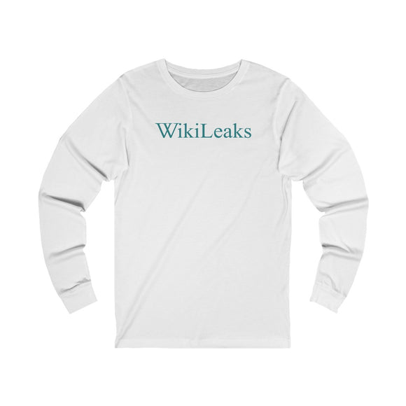 WikiLeaks Text Logo - Unisex Long Sleeve Tee