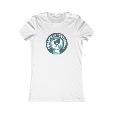 Courage is Contagious - WikiLeaks - Women's Slim Tee