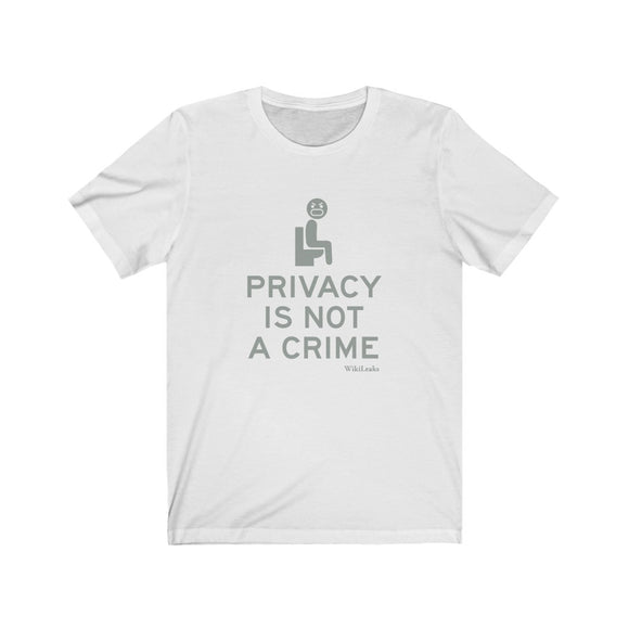Privacy is Not a Crime - WikiLeaks - Premium Fitted Tee