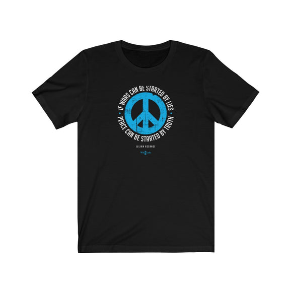 If Wars can be Started by Lies - Peace can be Started by Truth - Premium Fitted Tee
