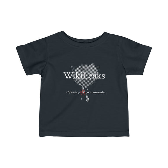 WikiLeaks - Opening Governments - Infant Fine Jersey Tee