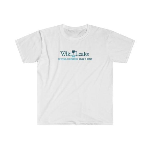 WikiLeaks Supporter's design - The Method is Transparency - Men's Fitted Premium Tee