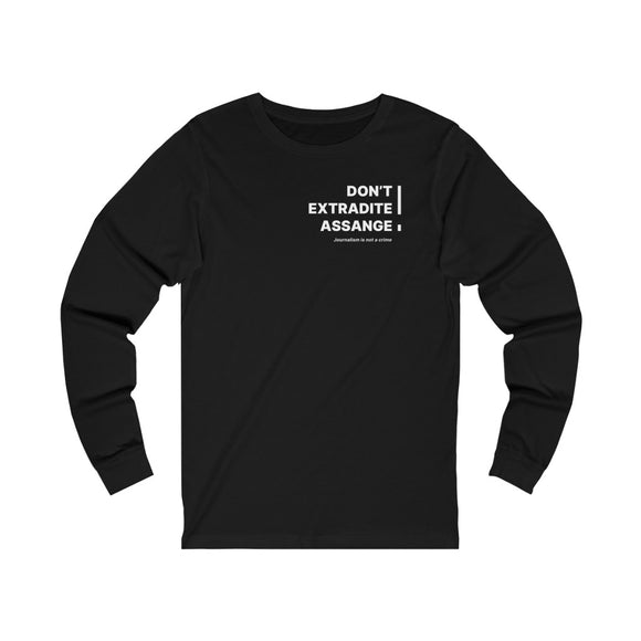Don't Extradite Assange! (white) - WikiLeaks - Unisex Long Sleeve Tee