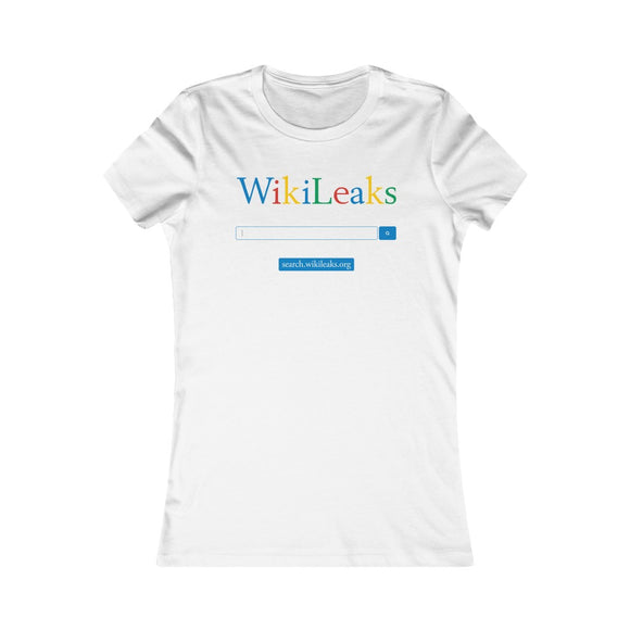 WikiLeaks Search - Women's Slim Tee