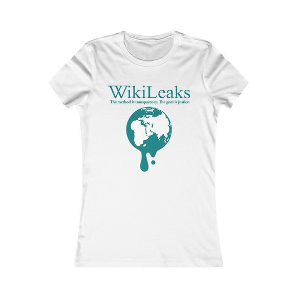 WikiLeaks Dripping Globe - Women's Slim Tee