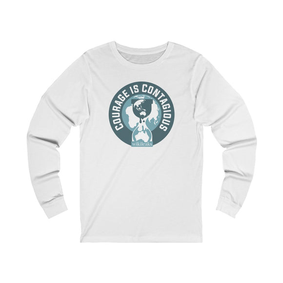 Courage is Contagious - WikiLeaks - Unisex Long Sleeve Tee