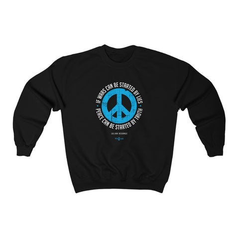 If Wars can be Started by Lies Peace can be Started by Truth - Unisex Crewneck Sweatshirt