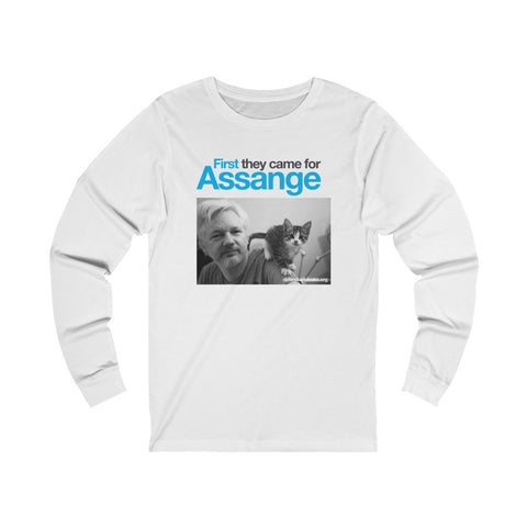 First they came for Assange - Unisex Long Sleeve Tee