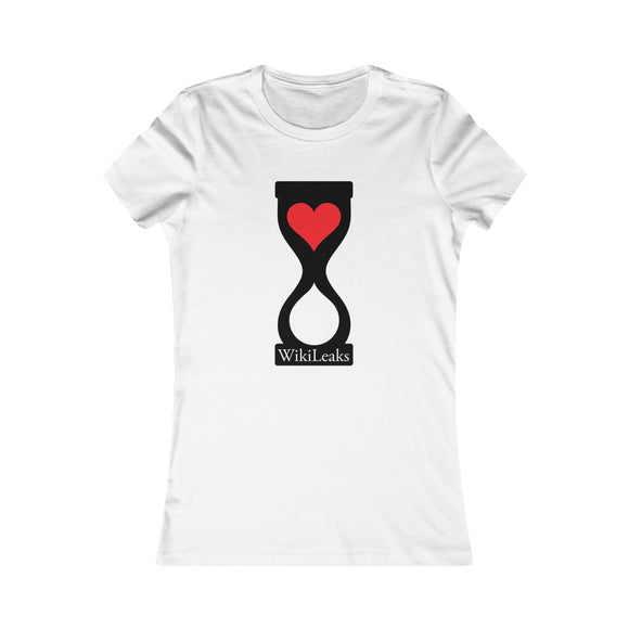 WikiLeaks Heart Hourglass - Women's Slim Tee
