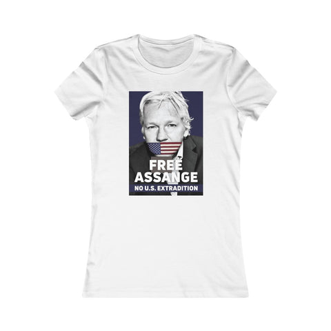 Free Assange - No US Extradition - Women's Slim Tee