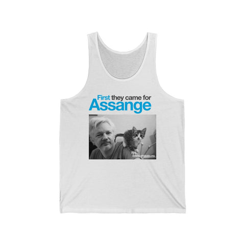 First they came for Assange - Unisex Jersey Tank