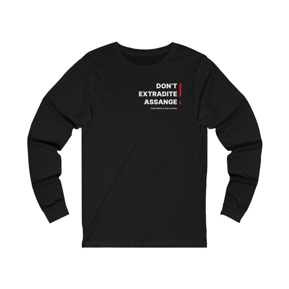 Don't Extradite Assange! (red) - WikiLeaks - Unisex Long Sleeve Tee