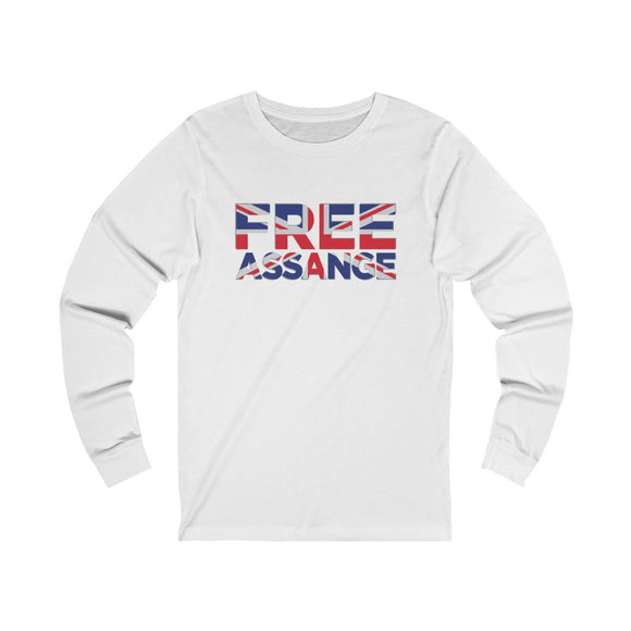 Free Assange Union Jack- Unisex Long Sleeve Tee