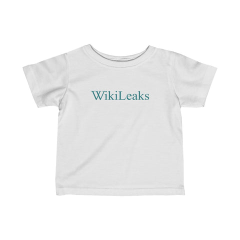 WikiLeaks Text Logo - Infant Fine Jersey Tee