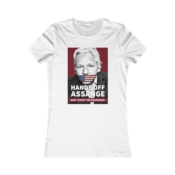 Hands Off Assange Don't Shoot the Messenger - Women's Slim Tee