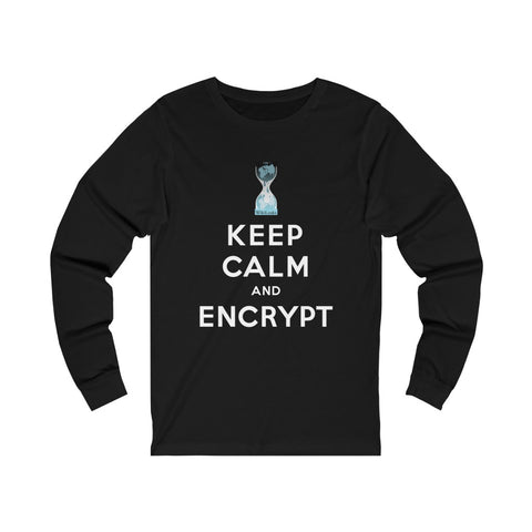 Keep Calm and Encrypt - WikiLeaks - Unisex Long Sleeve Tee