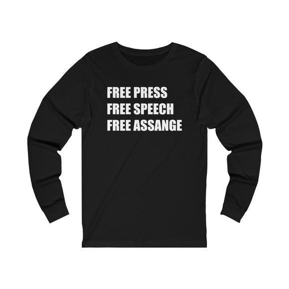 Free Press, Speech, Assange - Unisex Long Sleeve Tee