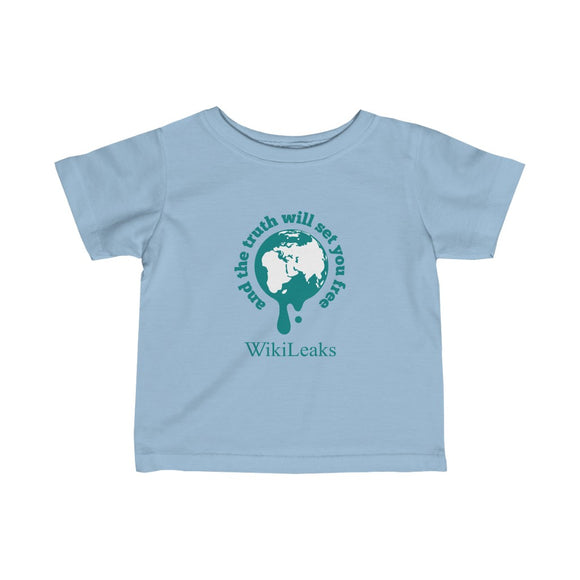 WikiLeaks Supporters - And the Truth Will Set You Free - Infant Fine Jersey Tee