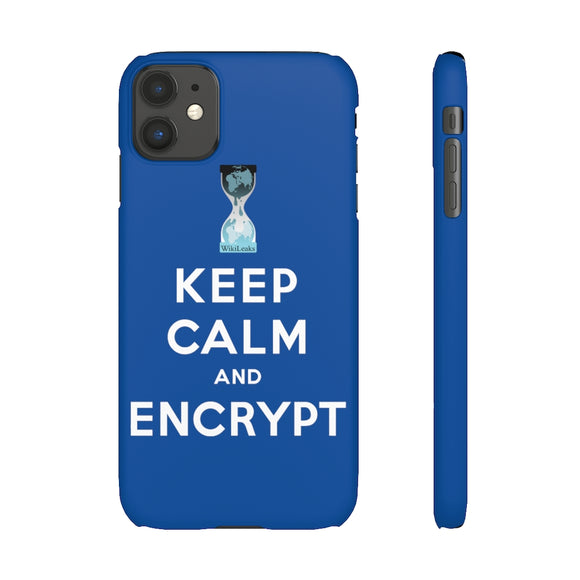 Keep Calm and Encrypt - WikiLeaks - Slim Phone Cases