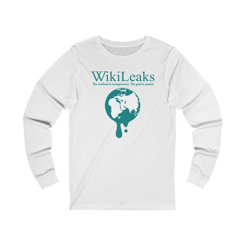 WikiLeaks Dripping Globe - Unisex Long Sleeve Tee