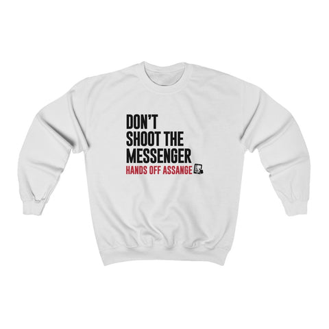 Don't Shoot the Messenger - Hands Off Assange - Unisex Crewneck Sweatshirt