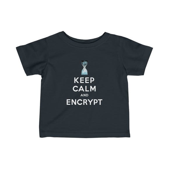 Keep Calm and Encrypt - WikiLeaks - Infant Fine Jersey Tee