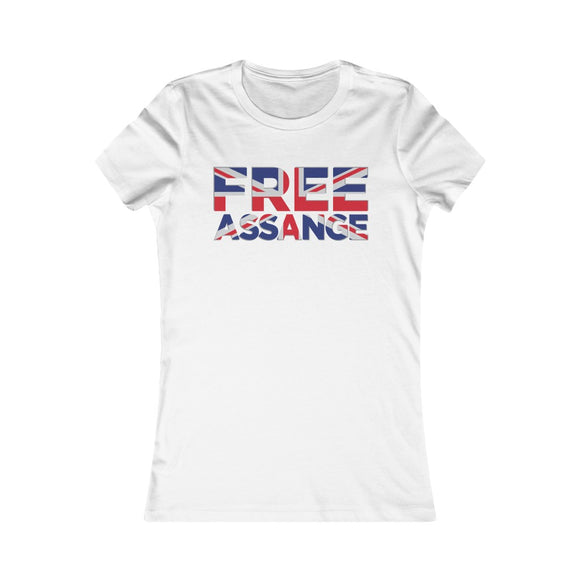 Free Assange Union Jack - Women's Slim Tee