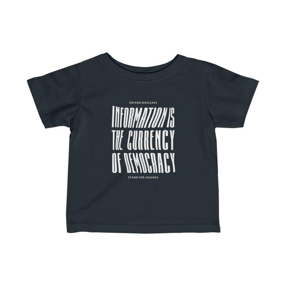 The Currency of Democracy (white text) - Infant Fine Jersey Tee