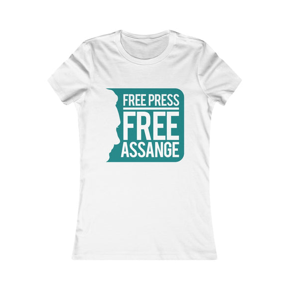 Free Press Free Assange - Women's Slim Tee