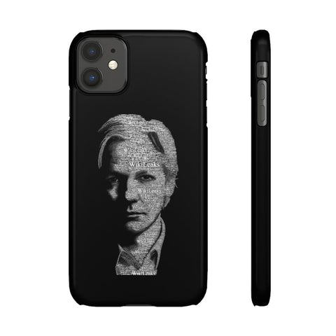 Typographical Assange - Phone Case