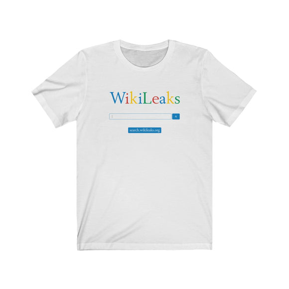 WikiLeaks Search - Premium Fitted Tee
