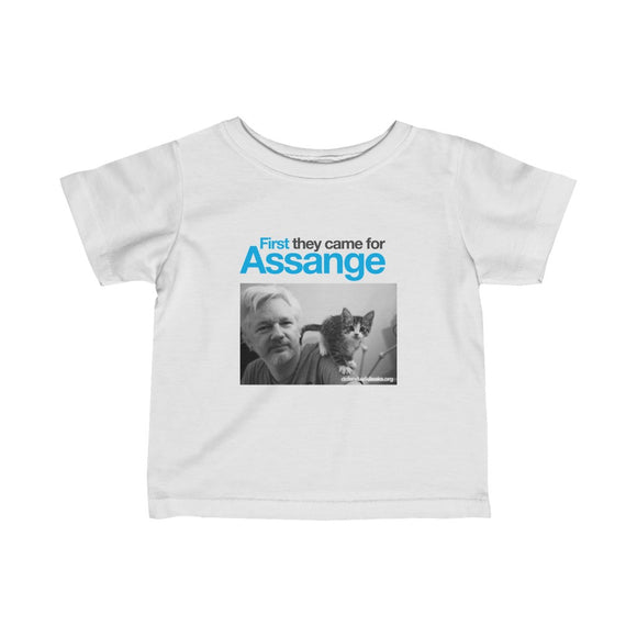 First they came for Assange - Infant Fine Jersey Tee