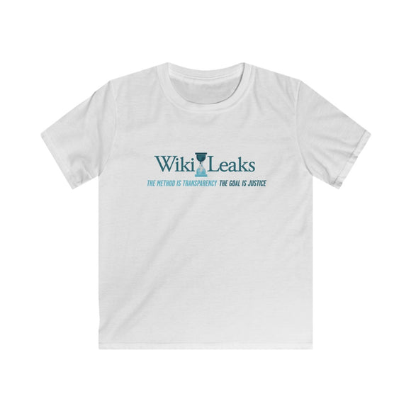 WikiLeaks Supporters - Kids Softstyle Tee