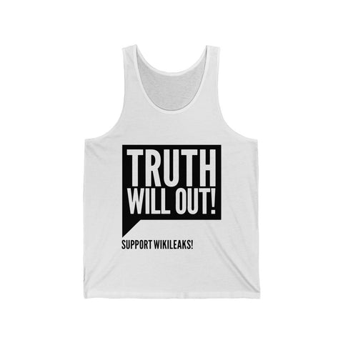 Truth Will Out - Unisex Jersey Tank