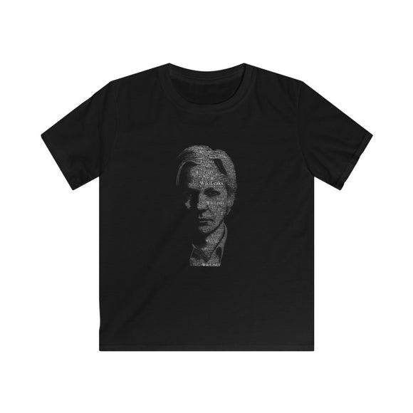 Typographical Assange - Kids Softstyle Tee