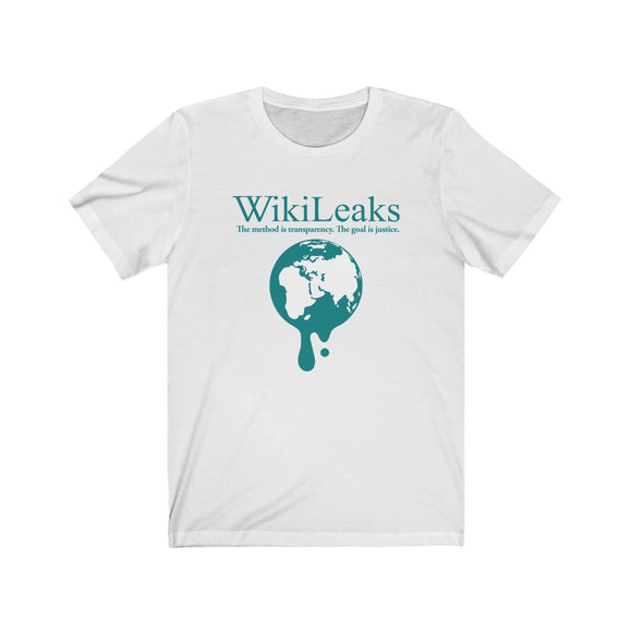 WikiLeaks Dripping globe - Premium Fitted Tee