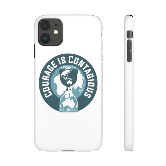 Courage is Contagious - WikiLeaks - Slim Phone Cases