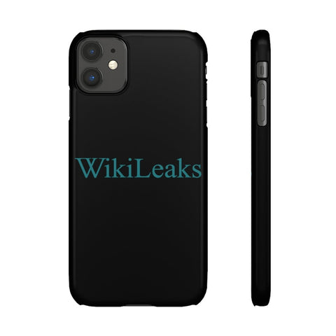 WikiLeaks Text Logo - Phone Case