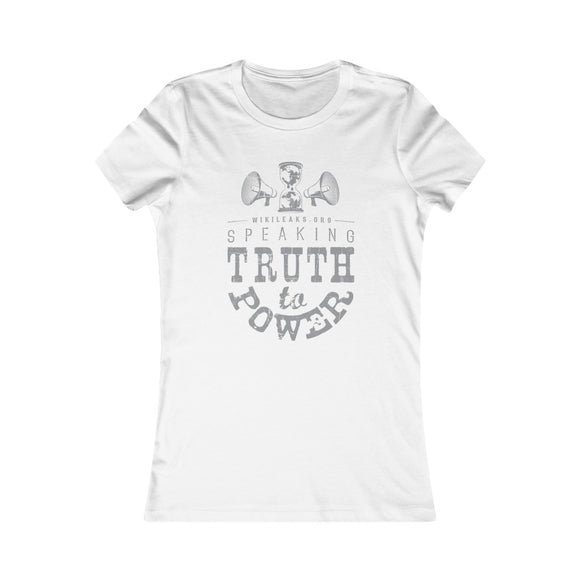 WikiLeaks - Speaking Truth to Power - Women's Slim Tee