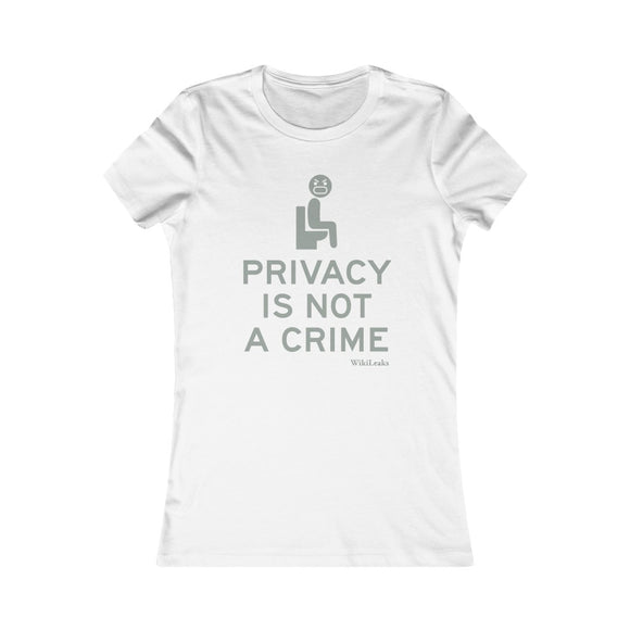 Privacy is Not a Crime - WikiLeaks - Women's Slim Tee